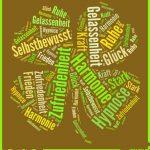 Kleeblatt von Harmonie-Hypnose, Zufriedenheit, Gelassenheit